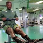 William Carvalho, trabajando en el gimnasio del Real Betis.