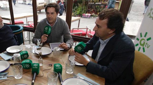 López Catalán, en la tertulia con Canal Sur (Juan Flores)