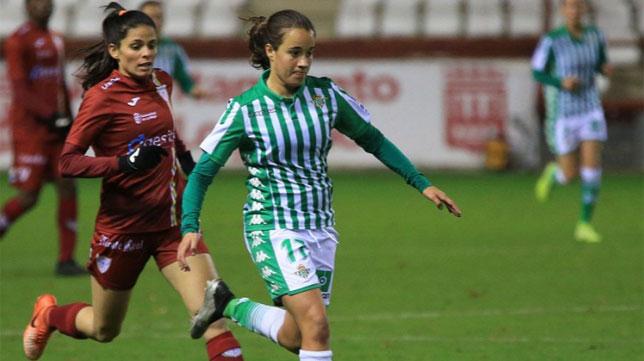 Rosa Márquez, durante el Logroño-Betis Féminas (Foto: LaLiga)