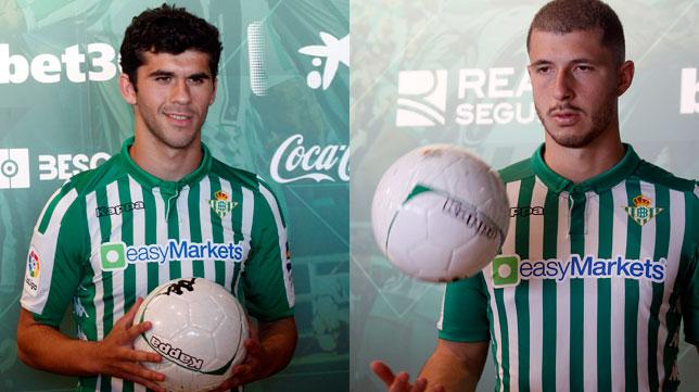 Carles Aleñá y Guido Rodríguez, los dos fichajes de enero del Real Betis (Fotos: Manuel Gómez).