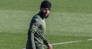 Fekir, en el entrenamiento del Betis (J. M. Serrano)