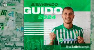 El anuncio del fichaje de Guido Rodríguez por el Betis.