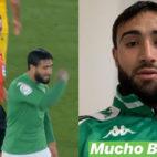 El gesto de Fekir a Sánchez Martínez y la foto que publicó el francés con el ojo hinchado tras el Betis-Barcelona.