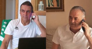 Alexis y Gordillo, llamando a los socios mayores del Betis (Foto: Fundación Real Betis).