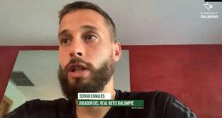 Sergio Canales, jugador del Real Betis, durante su entrevista con alfinaldelapalmera.com.