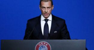 El presidente de la UEFA, Ceferin, en un acto (Foto: Reuters)