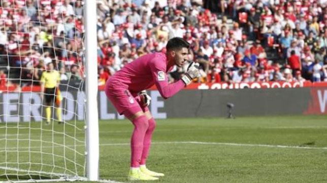 Rui Silva, en un partido con el Granada (Foto: Ideal).
