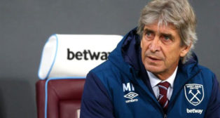 Manuel Pellegrini, en su etapa como entrenador del West Ham.