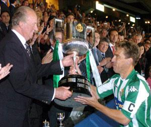 Real Betis: Cañas recogió la Copa