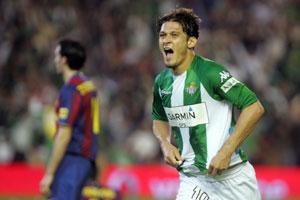 Real Betis: Edu, tras marcar el tercero
