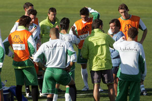 Real Betis: la plantilla en un entrenamiento