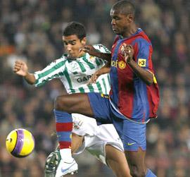 Real Betis: Juande, en el partido de Liga frente al FC Barcelona