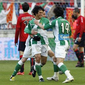 Real Betis: Mark, celebrado el gol