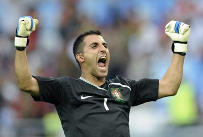 Betis: Ricardo celebra un tanto de su equipo durante esta Eurocopa