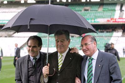 Betis: Rufino, Castaño y Pepe León en una imagen de archivo