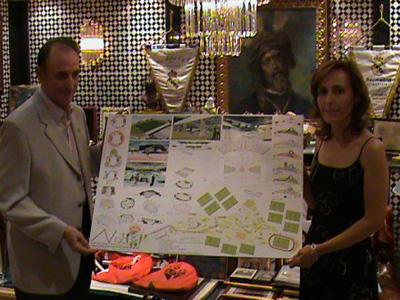Lopera, con la alcaldesa de Benacazón