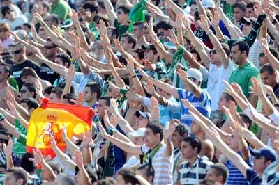 Betis: Imagen del gol sur del Ruiz de Lopera