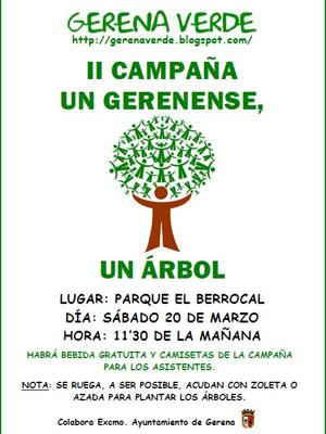 Betis: Cartel de la II Campaña 'Un Gerenense, un árbol'