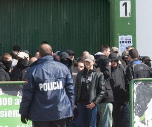 Betis: Imagen de los incidentes de este mediodía