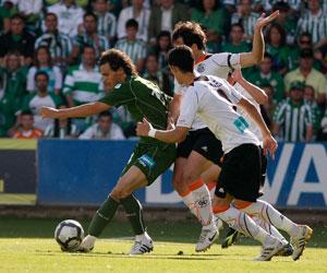 Capi, ante el Salamanca en el penúltimo partido de Liga