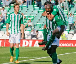 Betis: Emana celebra el gol que le marcó al Cádiz