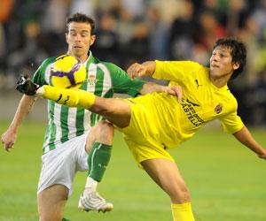 Betis: Fernando Vega en el Betis - Villarreal B de la primera vuelta