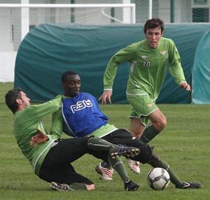 Betis: José Antonio y Sergio han estado trabajando con el primer equipo
