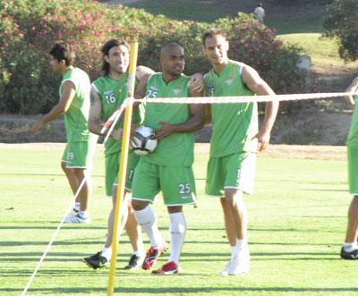 Betis: Odonkor durante un entrenamiento