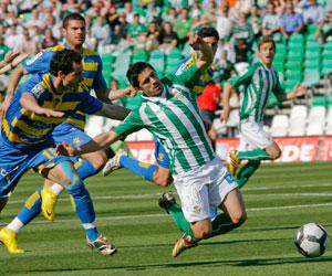 Betis: Carlos García durante un partido de esta temporada