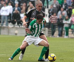 Betis: Sergio García en el partido frente al Hércules en el Ruiz de Lopera