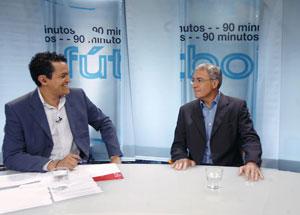 Sevilla FC: José Fuentes, en el plató de '90 Minutos' de Sevilla TV junto a nuestro colaborador Roberto Arrocha