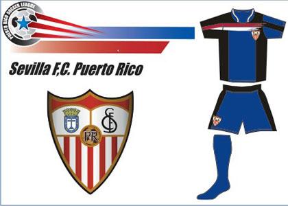 Sevilla FC: Equipación y escudo del Sevilla FC de Puerto Rico