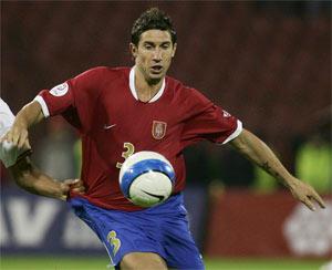Sevilla FC: Dragutinovic, en un partido con la selección serbia
