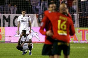 Sevilla FC: los jugadores del Mallorca celebran un gol