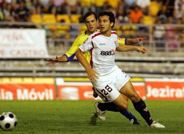 Armenteros jugó con el Sevilla el Trofeo Carranza el pasado verano