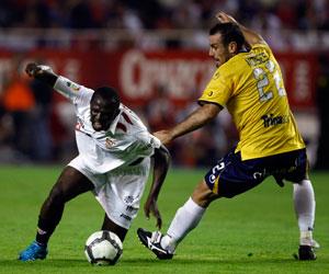 Sevilla FC: Koné en un partido de la pasada temporada ante el Español