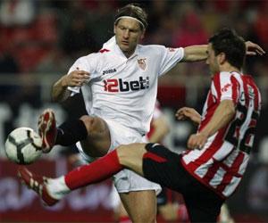 Lance del Sevilla - Athletic de la pasada temporada, que terminó 0-0