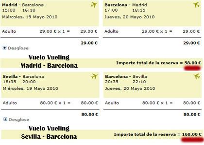 Precio de un billete de avión en Vueling para cada aficionado