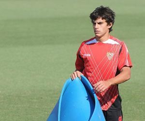 Perotti en un entrenamiento de la pasada temporada