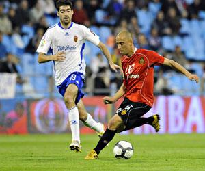 Valero, en un partido ante el Zaragoza