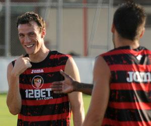 Sevilla FC: Squillaci sonríe en el entrenamiento de ayer