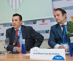 José María Cruz en una charla sobre el Sevilla FC