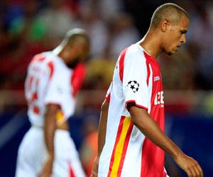 Sevilla FC: Luis Fabiano en un partido de esta temporada