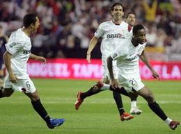 Sevilla FC: Keita corre a celebrar su gol contra el Real Madrid