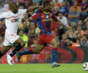 Sevilla FC: Imagen del partido de la Supercopa entre el Sevilla y el Barça