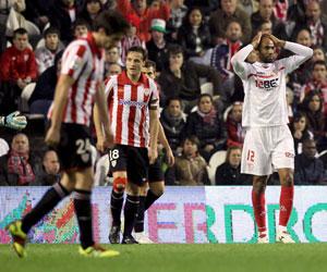 Kanouté, en el Athletic-Sevilla de la pasada temporada