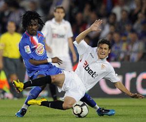 Sevilla FC: Imagen del Getafe-Sevilla liguero de la pasada campaña en el Coliseum