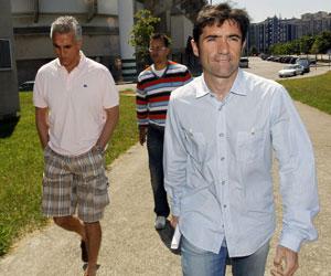 Sevilla: Marcelino, junto a sus ayudantes