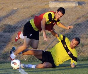Sevilla: Alfaro, en un entrenamiento