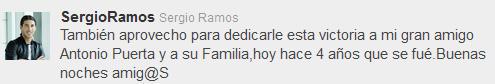 Sevilla FC: Sergio Ramos recordó a su amigo Puerta en su Twitter